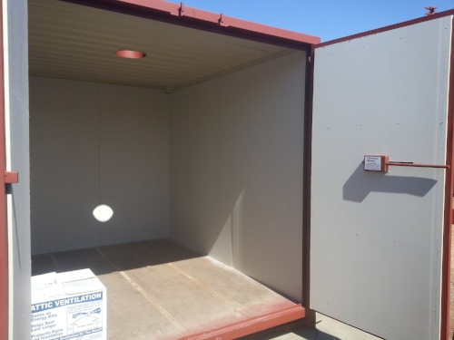 Drywall to insulate your metal container