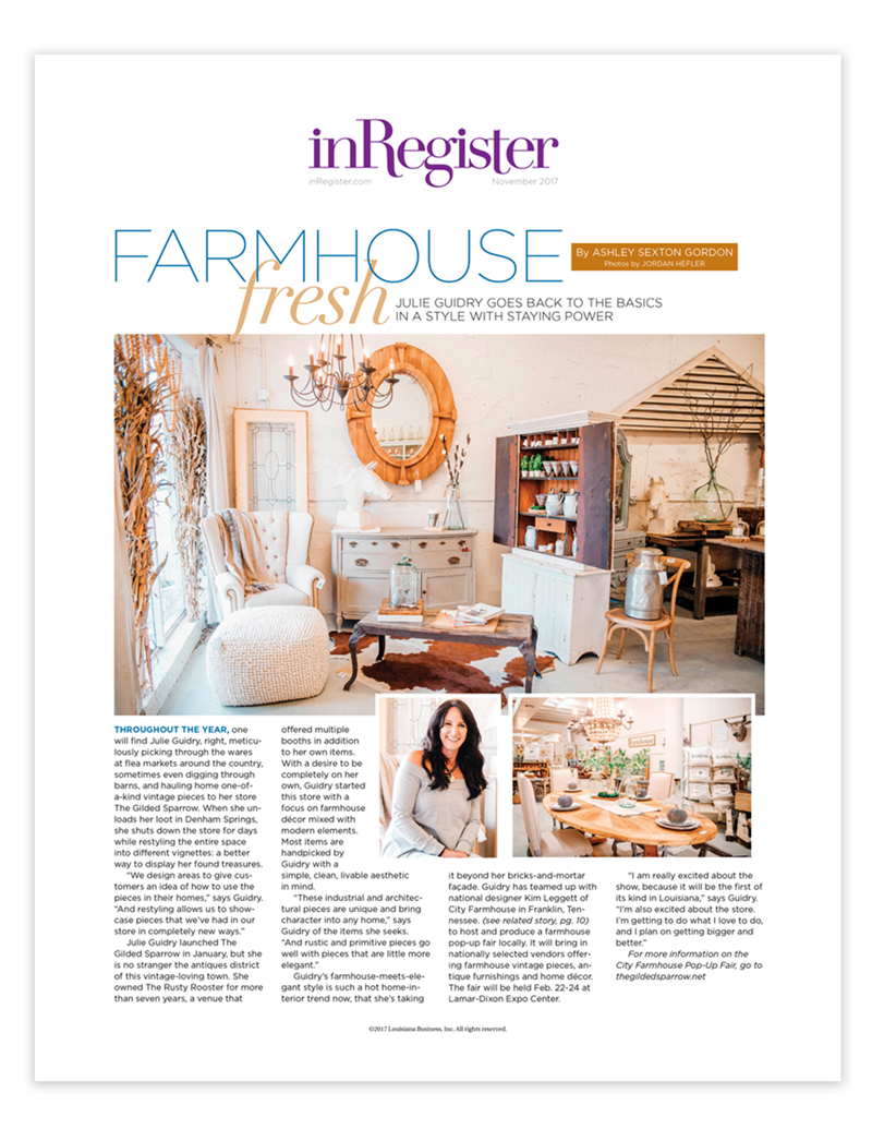 InRegiter Magazine Article