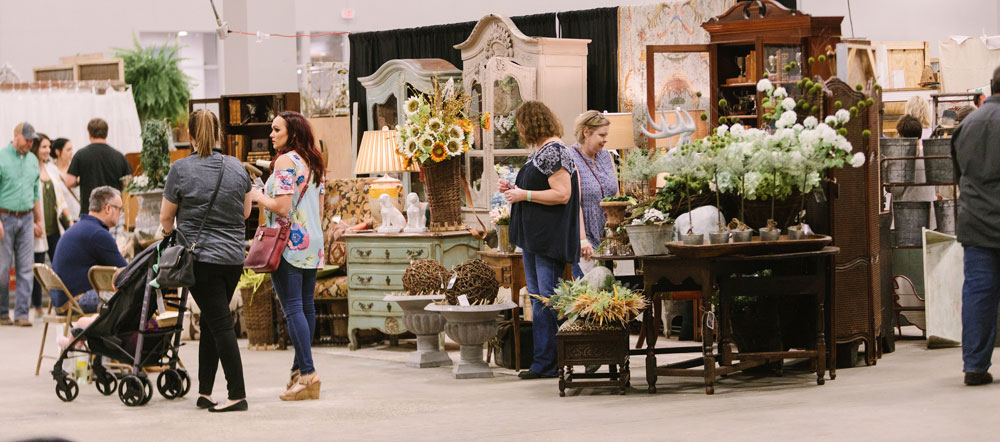 Shoppers at the City Farmhouse Pop Up Fair