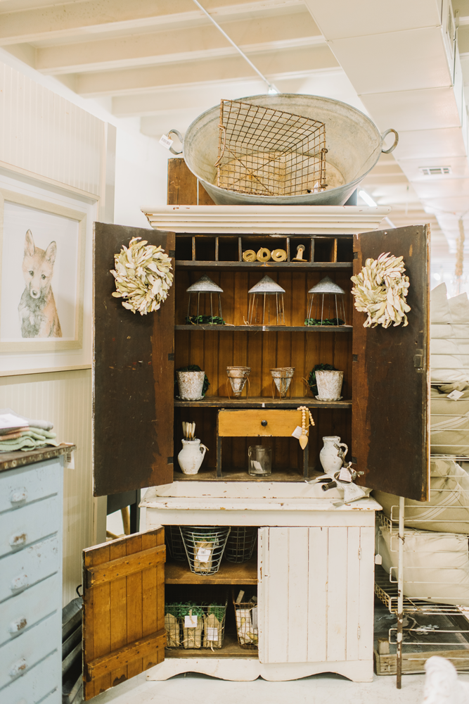 Antique Cabinet at The Gilded Sparrow