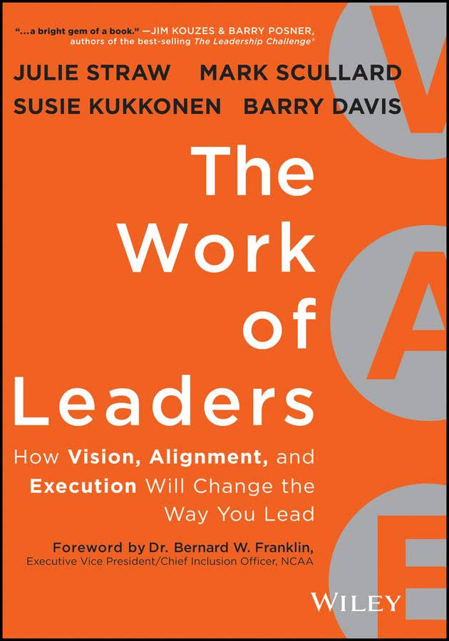 """- The Work of Leaders focuses on the VAE framework for leadership growth. V is vision and the process from the leader through the organization. A is for alignment which leads toward synergy and the potential for speed. E is for Execution which is most often the greatest challenge for leadership. How do we get from an idea to reality? The DISC for Leaders is a great staring point and often moves towards a 360. Seeking reality and knowing with certainty that """"Reality is our friend"""" often separates the winners from the losers. The resource towards Patrick Lencioni's """"The Five Characteristics of a High Performing Team"""" is a framework that many organizations find easy to step into as they seek to perform at a higher level."""