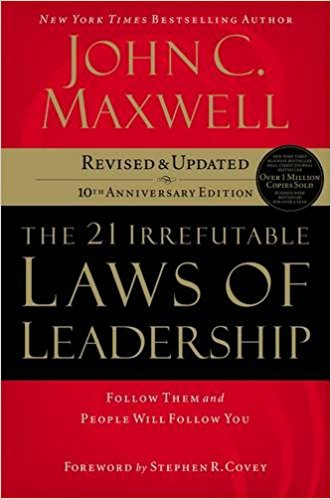 - John C. Maxwell has done exactly that in The 21 Irrefutable Laws of Leadership. He has combined insights learned from his thirty-plus years of leadership successes and mistakes with observations from the worlds of business, politics, sports, religion, and military conflict. The result is a revealing study of leadership delivered as only a communicator like Maxwell can.