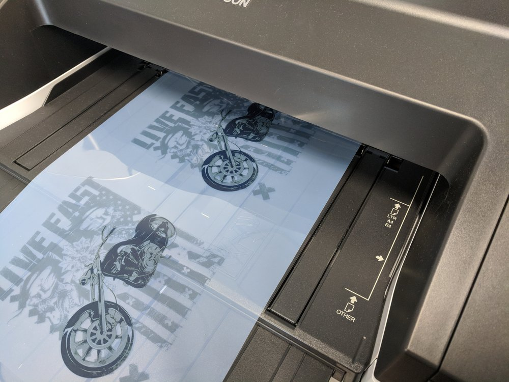 Your artwork becomes halftones when we print the film positives using a RIP software.