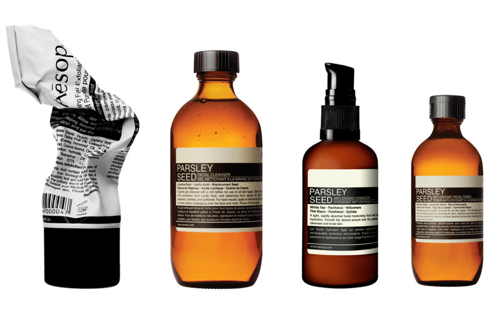 Aesop     www.aesop.com     Aesop  was established in Melbourne in 1987, they formulate skin, hair and body products of the finest quality using plant-based and laboratory-made ingredients.