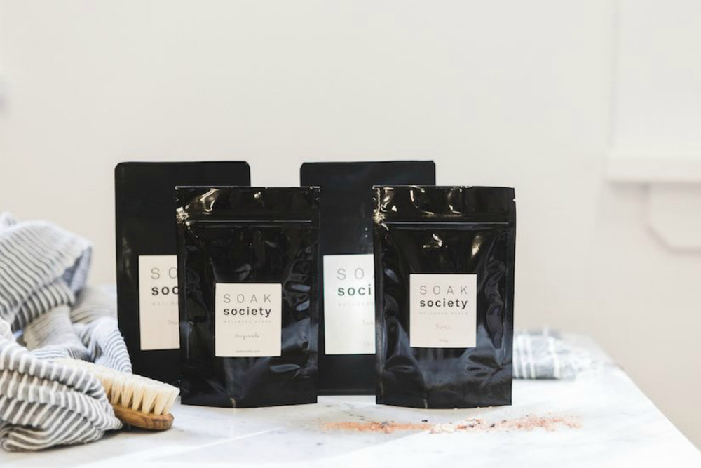 Soak Society     www.soaksociety.com    Brisbane's  Soak Society  are all about wellness soaks made from the highest quality natural, organic and cruelty-free ingredients, and encourage you to soak on the regular.