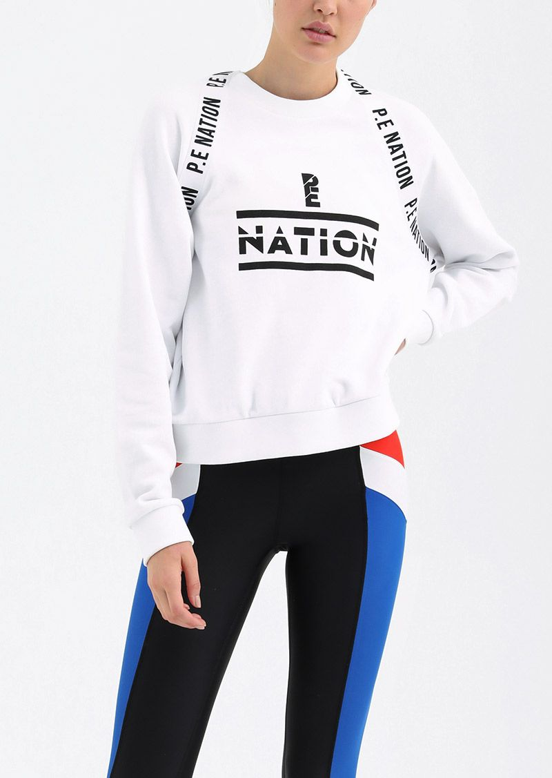 P.E Nation     www.pe-nation.com     P.E Nation  is an active-meets-streetwear brand designed by Pip Edwards and Claire Tregoning.