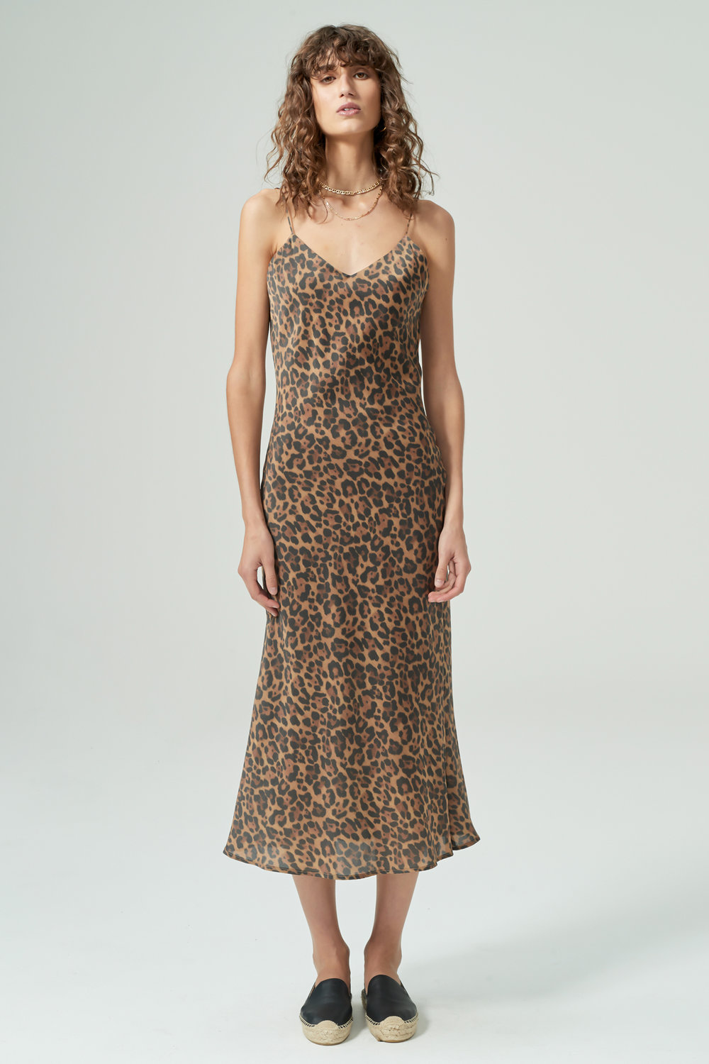 hansen & gretel demi silk dress leopard