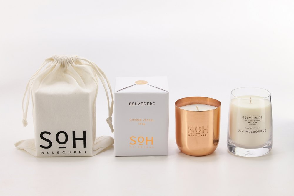 SOH Melbourne     www.sohmelbourne.com     SOH Melbourne  is a fragrance house that offers a range of home scents created and poured in Melbourne.