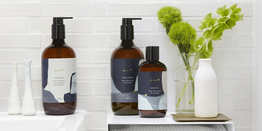 Ena     www.enaproducts.com.au     Ena  believe in a genuine approach to skincare and delivering a luxurious range of all-natural Australian made products that contain no nasty chemicals or synthetic fragrances.