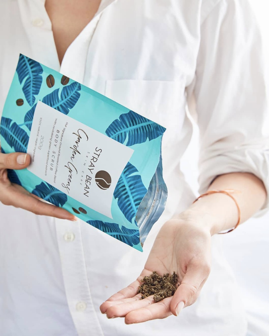 Stray Bean      www.straybean.com.au     Stray Bean    create organic, vegan, natural, Australian made coffee body scrubs that promise to cleanse, tone, exfoliate and moisturise.