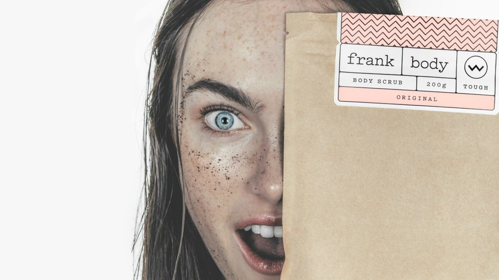 Frank Body     www.frankbody.com    Melbourne's  Frank Body  are the pioneers of the coffee skincare movement. Their fun yet effective products are made from natural ingredients and aren't tested on animals.