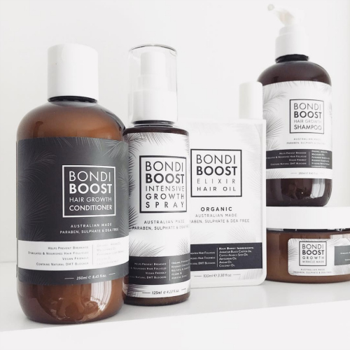 Bondi Boost     www.bondiboost.com.au     Bondi Boost  offer quality hair and body products that are Australian made, all natural, organic, vegan, and paraben, sulphate free and cruelty free.
