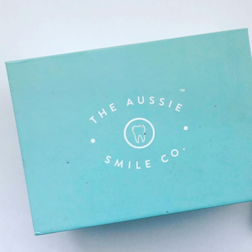 The Aussie Smile Co     www.theaussiesmileco.com     The Aussie Smile Co  combines 100% natural charcoal from organic coconuts with the clinical grade power of a peroxide free solution.