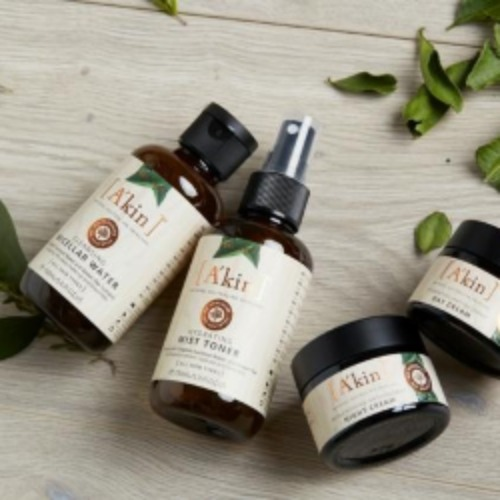 A'kin     www.akin.com.au     A'kin  offers a wide range of skincare and haircare products that are all natural, paraben free, sulfate free and cruelty free.