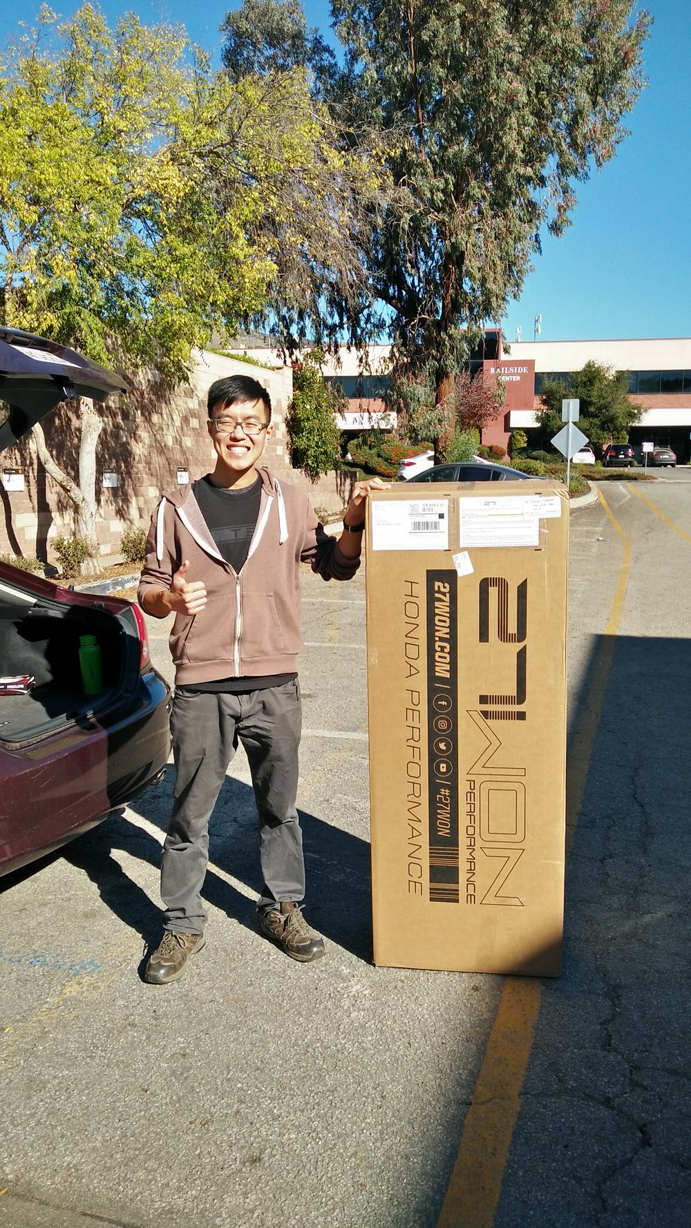 - Heck look how excited Ricky was below to receive the first ever sport hatchback exhaust from 27WON.