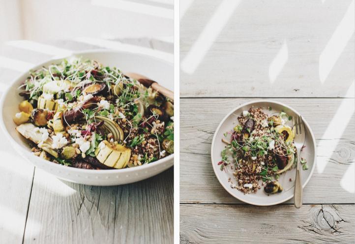 Roasted Vegetable Quinoa Bowl -