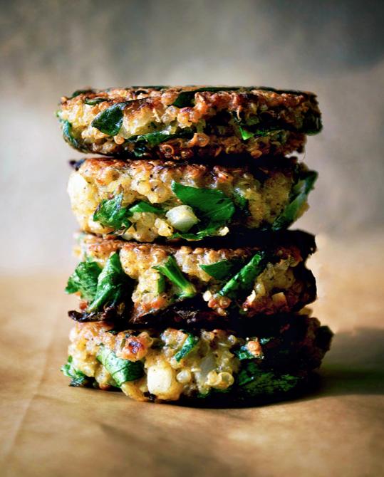 Quinoa & Swiss chard Patties -