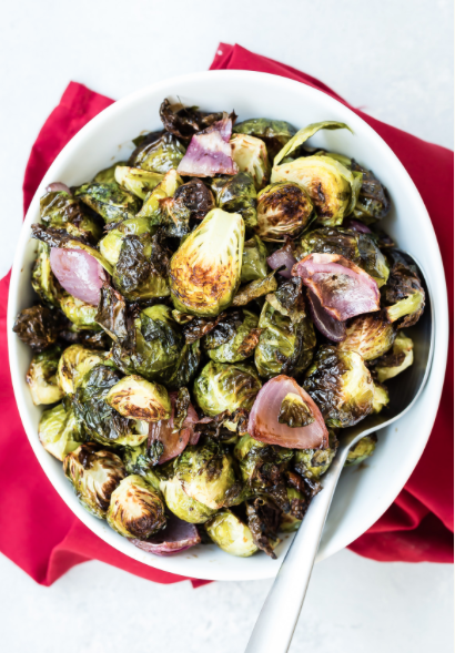 Roasted Balsamic Brussels Sprouts -