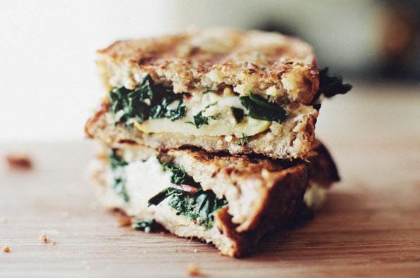 Sautéed Chard + Gruyere Grilled Cheese -