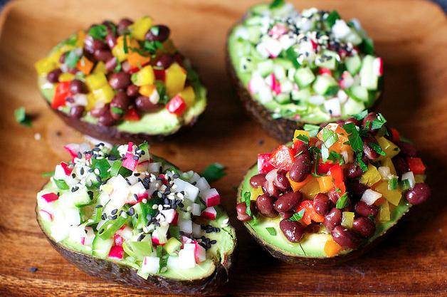 Avocado Cup Salads, Two Ways -