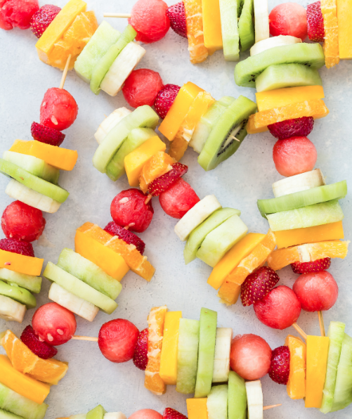 Rainbow Fruit Kabobs -