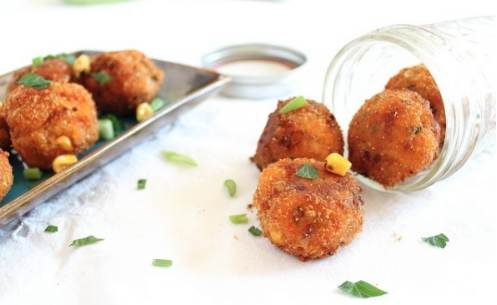 Sweet Potato Corn Cheddar Fritters -