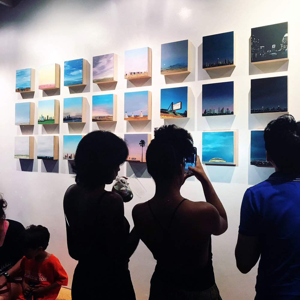 "Opening reception of ""Expressions of the City: Reimagining the Local"" at Aether Space Gallery on June 2, 2018."