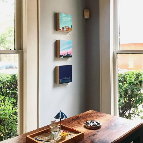 Paintings installed at Uptown Realty on Guadelupe St. in Austin, TX.