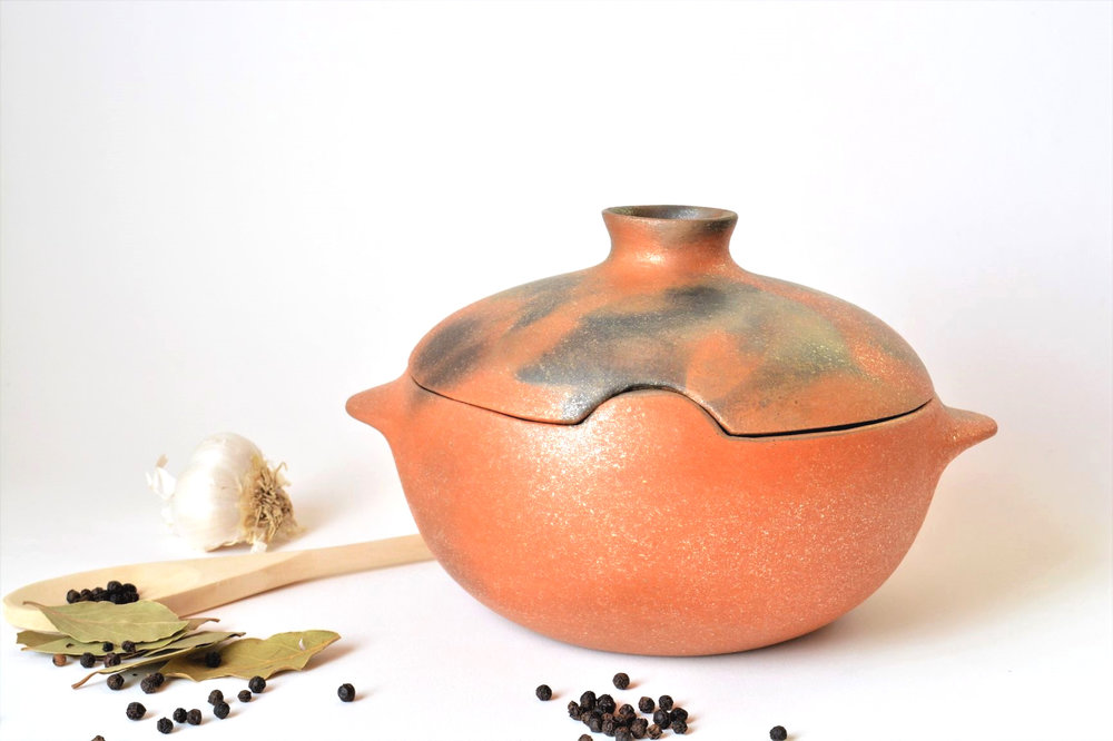 MICA Collection - Beauty and function. Flame-proof, flavor-enhancing micaceous clay cooking pots. Coil-built and meticulously finished to shine in your kitchen.