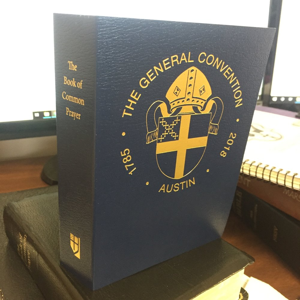 My commemorative copy of  The Book of Common Prayer  as published for General Convention.
