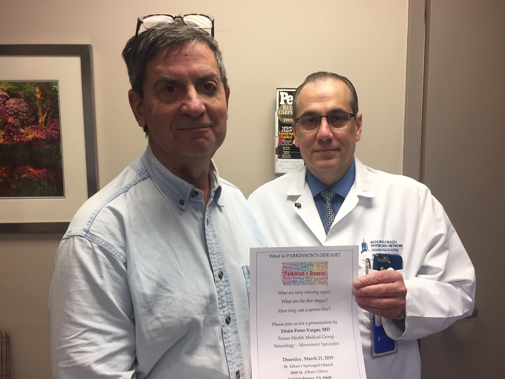 Eric Murray with Dr. Efrain Perez-Vargas of Tower Health and Reading Hospital.