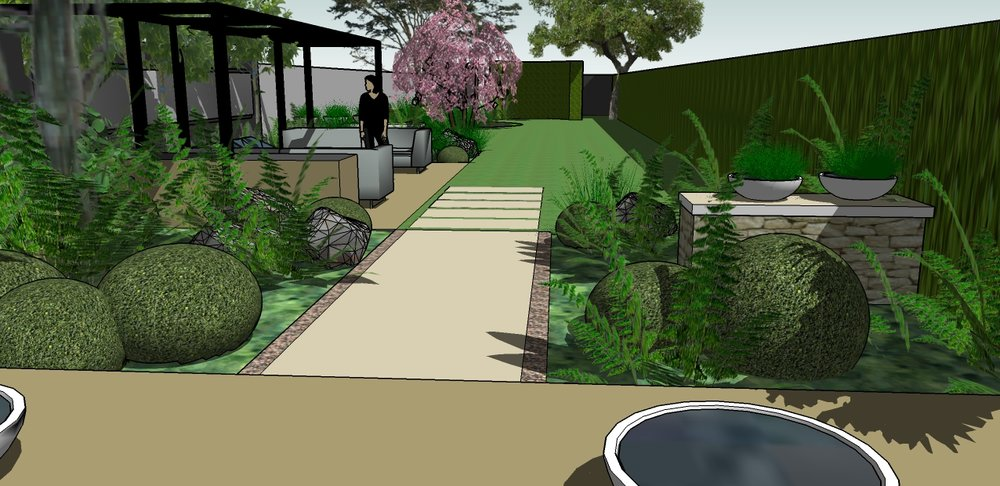Chiswick London 3D Drawings Garden Cat Howard Garden