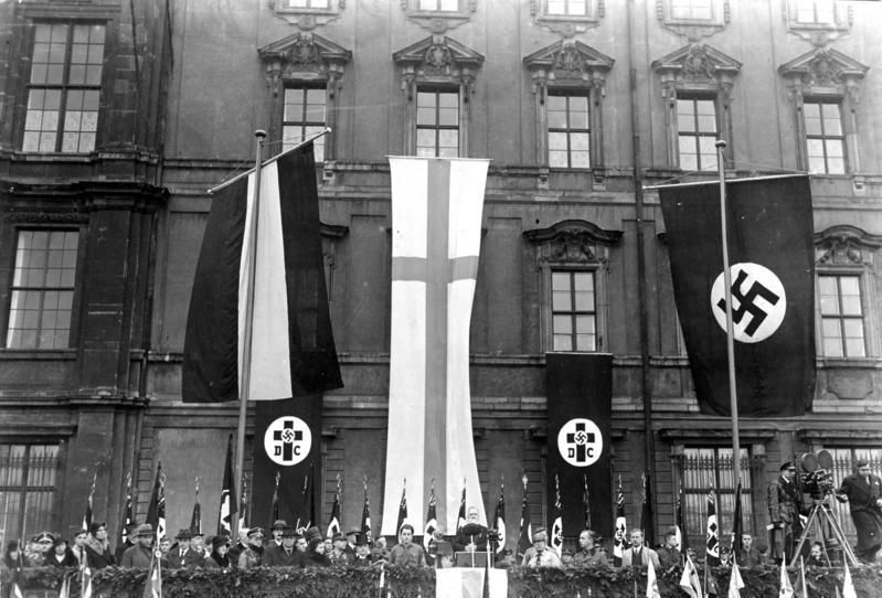 German Christians celebrate Luther-Day 1933 in Berlin.