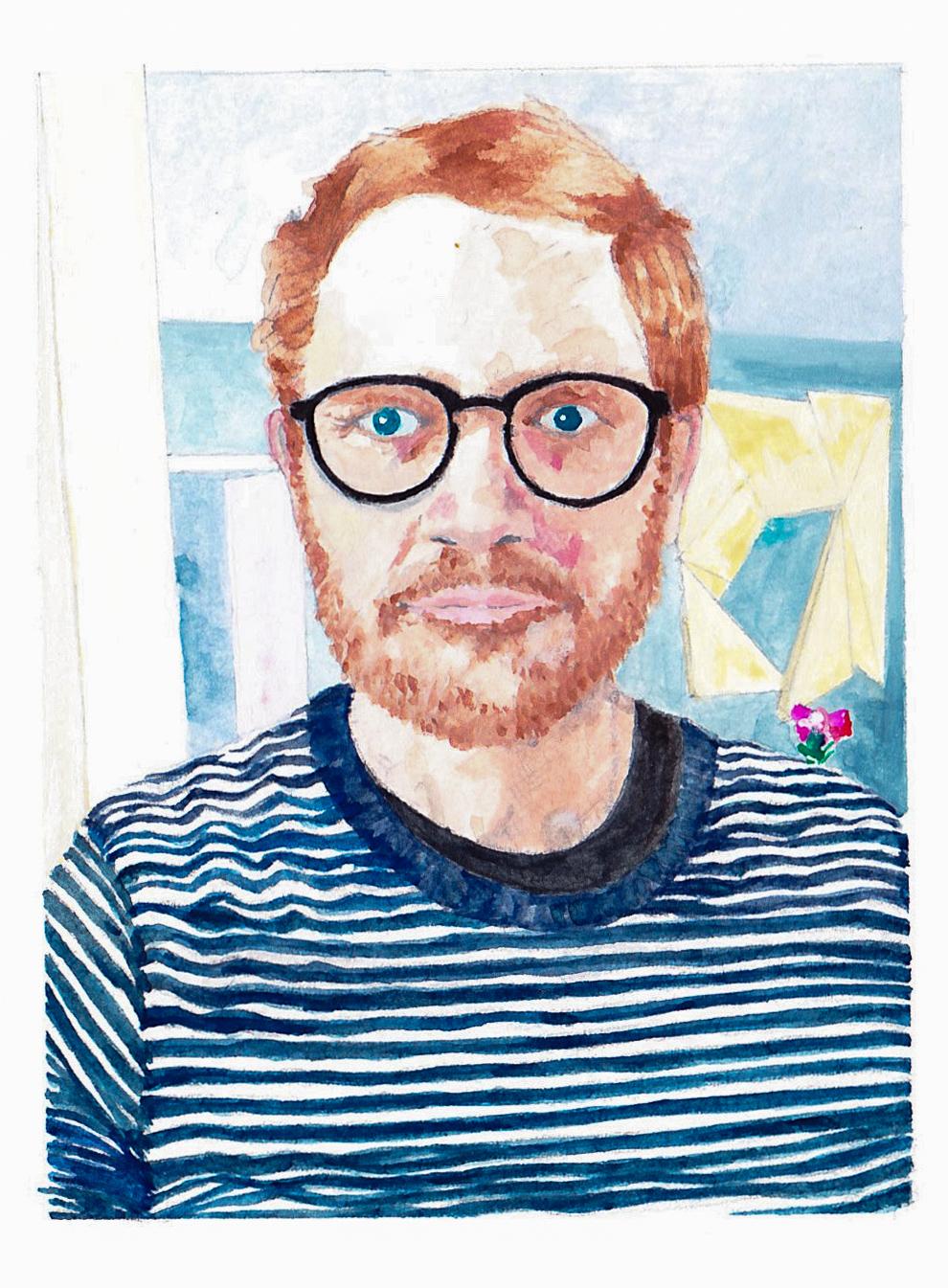 A self-portrait of Robert.