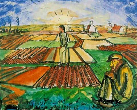 """Erich Heckel's """"Flandrische Ebene"""" (1916)"""