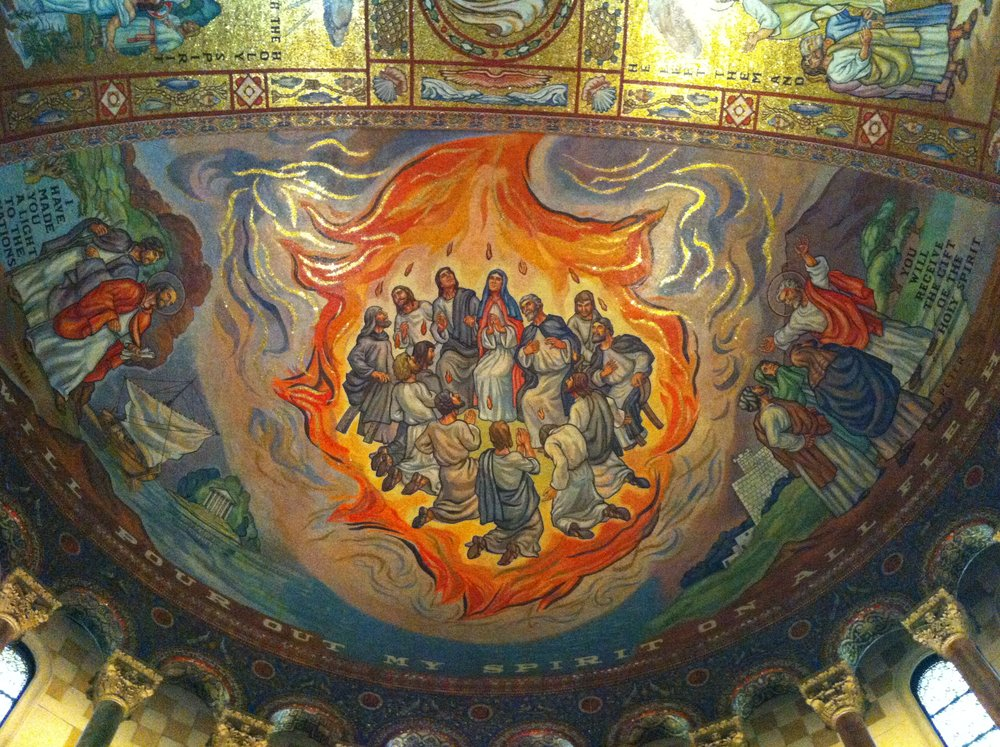 Pentecost Mosaic , St. Louis Cathedral, Missouri.