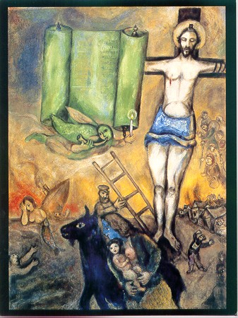 Chagall,  Yellow Crucifixion.   (I just like Chagall, no deeper meaning here.)