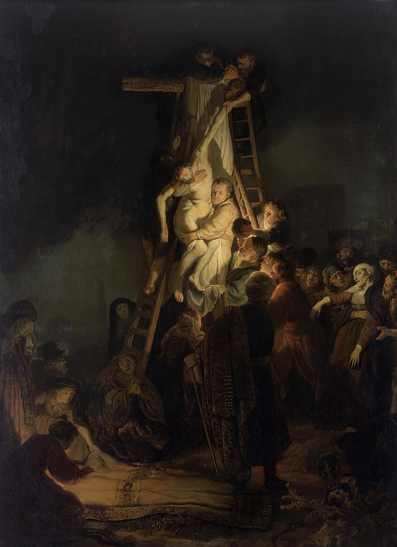 'Descent from the Cross,' Rembrandt.