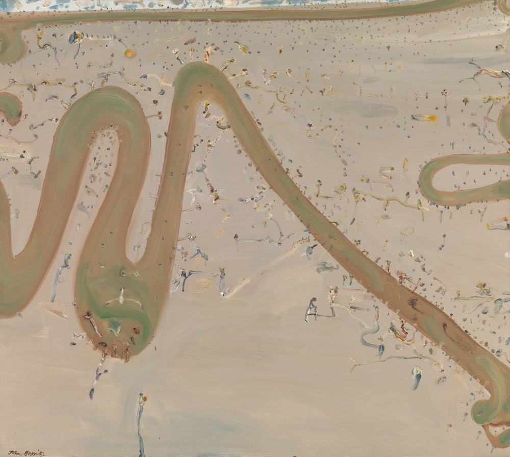 John Olsen,  River Passing Through a Plain , 1982, [oil on canvas], National Gallery of Victoria. (Not Currently on Display)