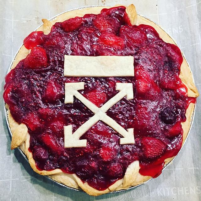 """PIE"" 2019 edition... #nationalpieday . . . . . #hype #pie #baking #offwhite #mixedberrypie #dessert #piday"