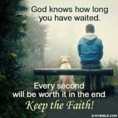 Its hard to wait, but God promises to bless those who do.