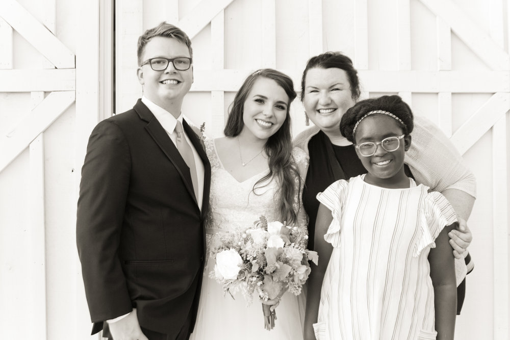 Boris, Brittany, ME and my daughter Norah. Brittany has been part of our family since she was 15 years old and now she is married, a college graduate and has a real job! We miss her so much but are so very proud of her!