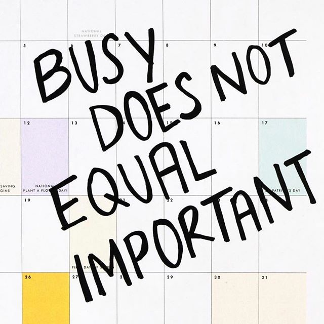 Stop the Glorification of Busy ✨ Prioritize What's Important & Eliminate the Rest  #mybaseline #backtobaseline #getorganized #lifedesign #productivity #planner @hellosunshine