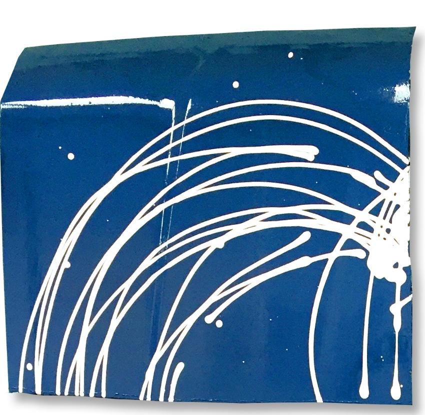 scott hughes art white heart blue field ford f150 hoods upper left detail
