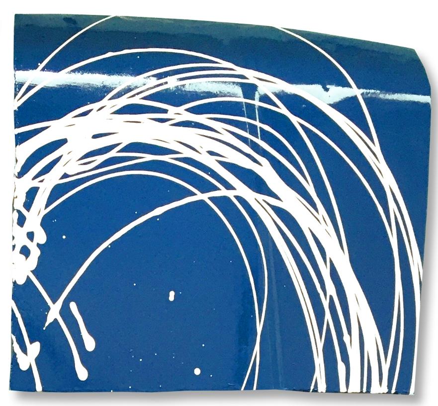 scott hughes art white heart blue field ford f150 hoods upper right detail