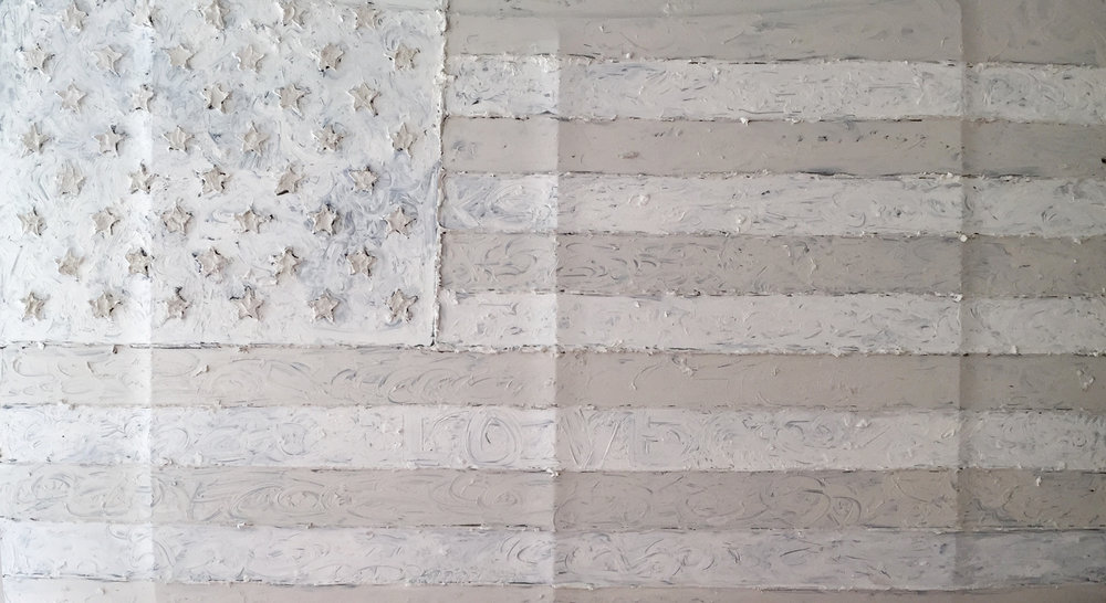 This image reflects the different whites in the flag.  If you look closely you can see the word love in the white stripe, second from the bottom.