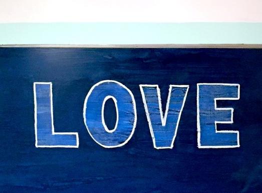 scott hughes art one love blue cadillac seville rectangular view