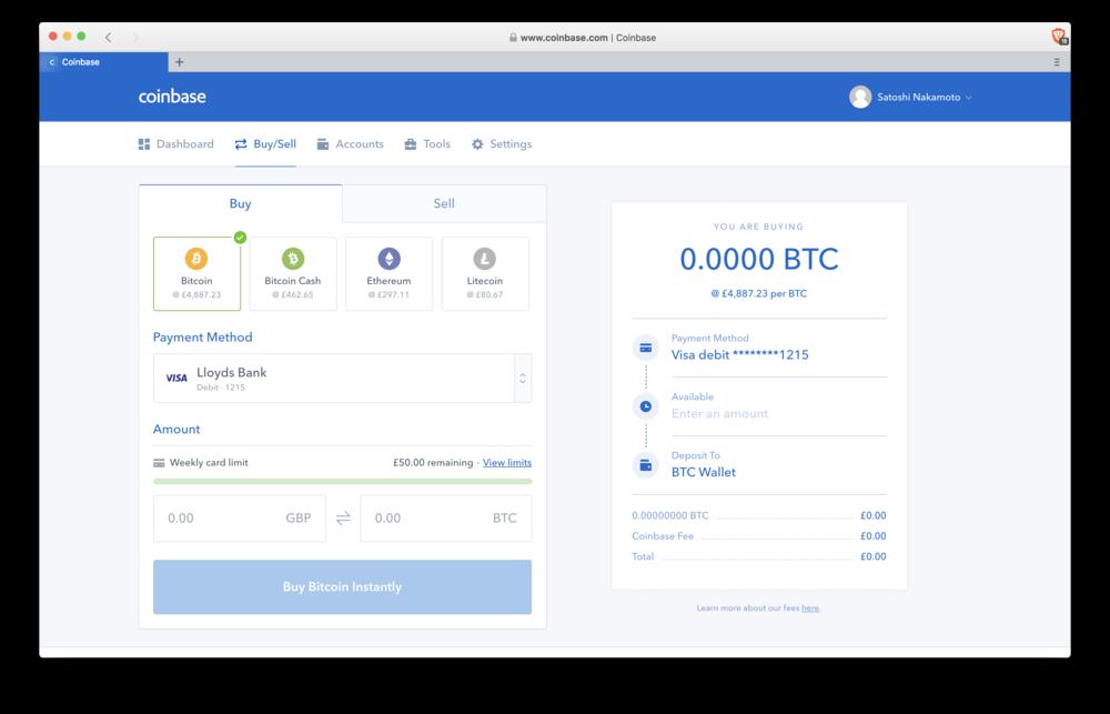 Coinbase: buying Crypto