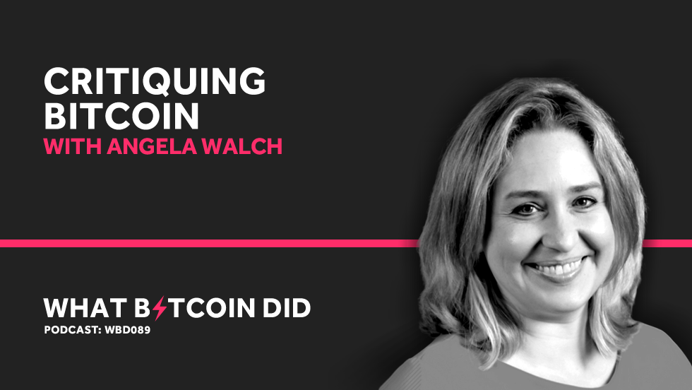 Critiquing Bitcoin with Angela Walch     MARCH 26, 2019
