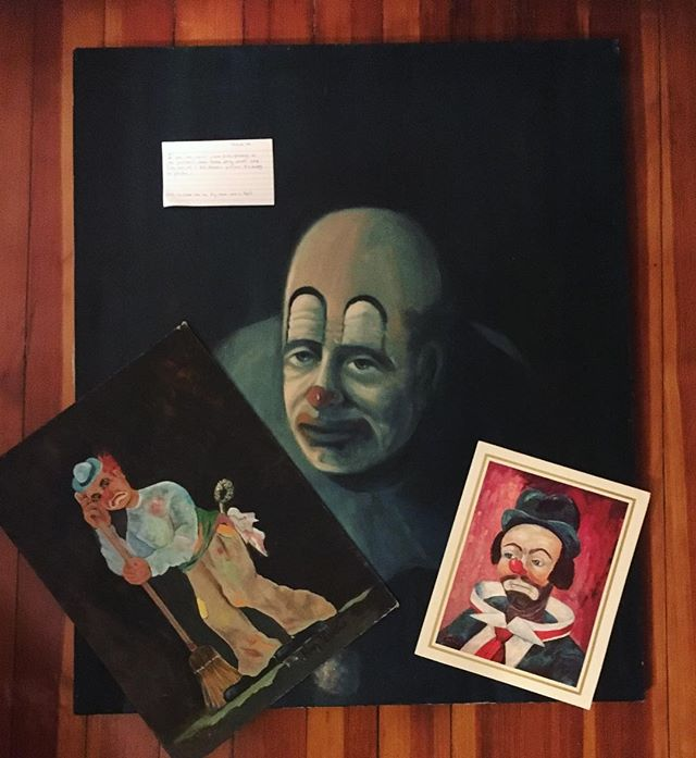 """I got this set of clown prints/ paintings at my partner's family holiday party yankee swap. They came with a $25 Amazon gift card. I'm keeping the gift card..."" Don't hold on to holiday gifts out of guilt. Donate them to Thrift Story, instead! Next event: Jan 13 at Aeronaut Brewing Co. in Somerville."